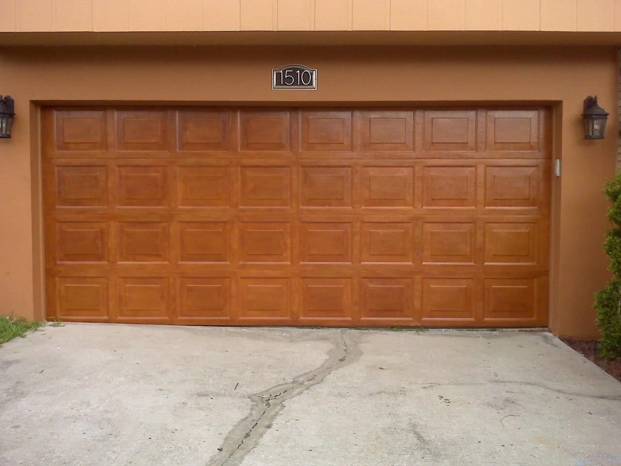 Garage Doors Wood Look Home Design